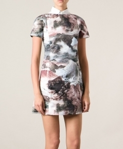 seascape print dress