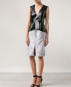 jacquard crocodile textured skirt